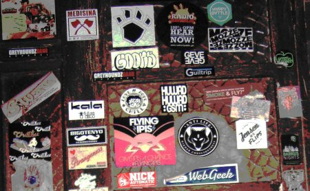 Stickers in Saguijo Bar