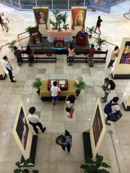 Pope John Paul II relics exhibit at Gateway Mall