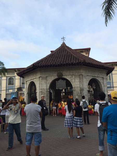 The shrine enclosing Magellan's Cross