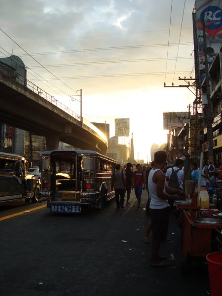 A view of the Monumento area in Caloocan City, Philippines