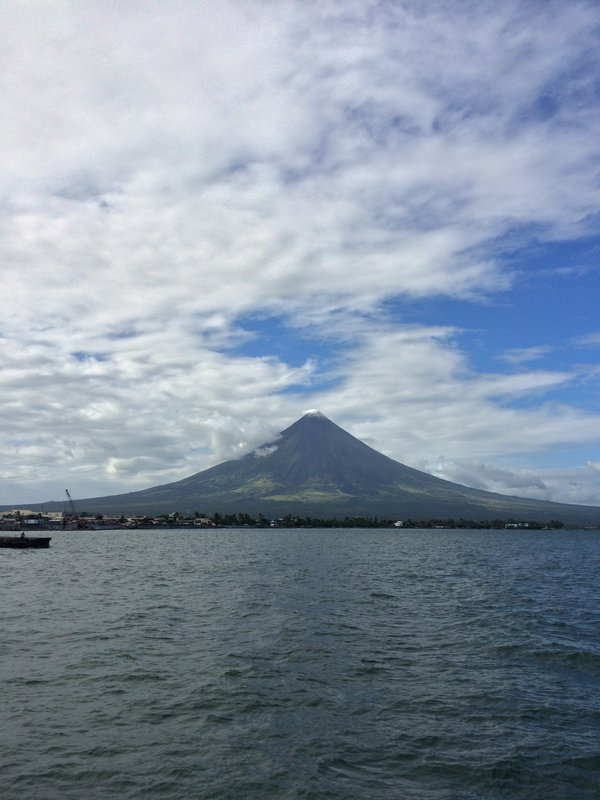Mayon Volcano and Albay Gulf, viewed from Legazpi port.