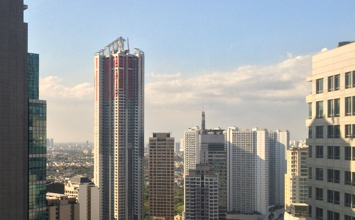 A view of Makati City high-rises from The Enterprise Center.
