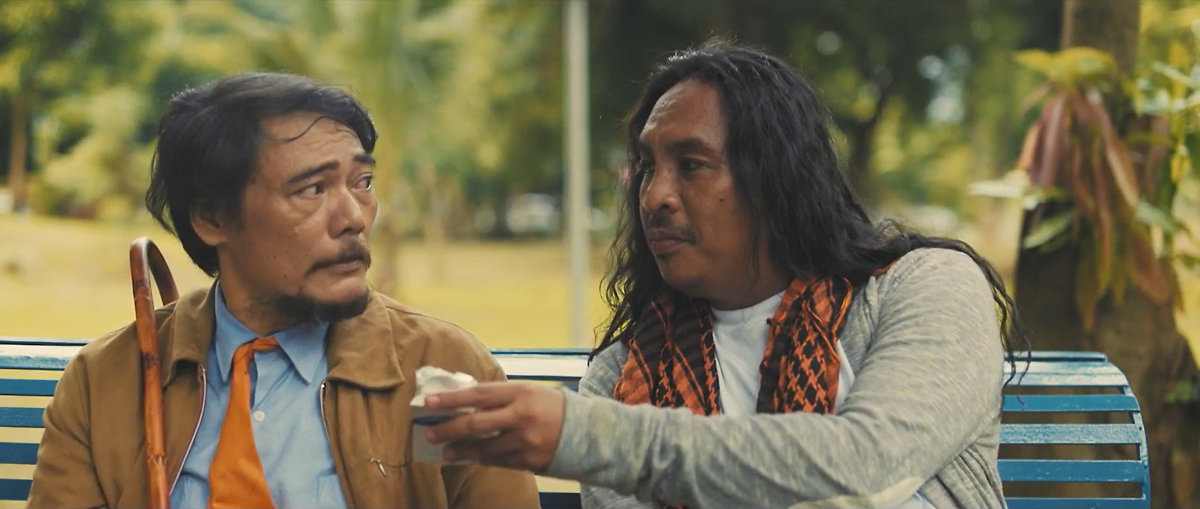 Moises Magisa and Himlaya Payapa in a scene from the short film Nakauwi Na.