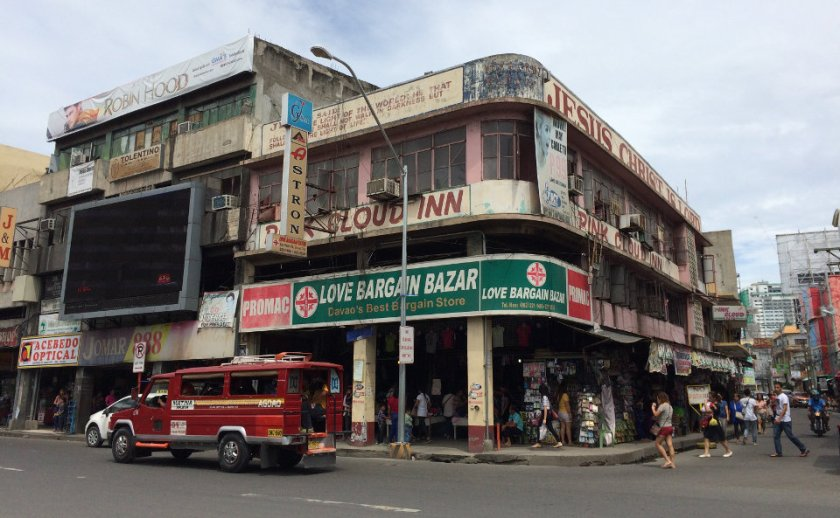 Photo of old buildings located along San Pedro St. in downtown Davao City.