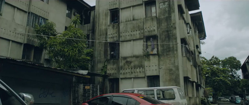 Apartment buildings in 'Ang Manananggal sa Unit 23B'.