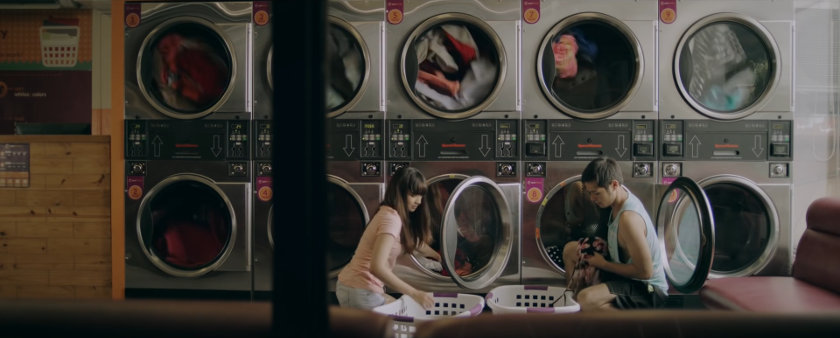 Jewel and Nico at a laundromat in 'Ang Manananggal sa Unit 23B'.